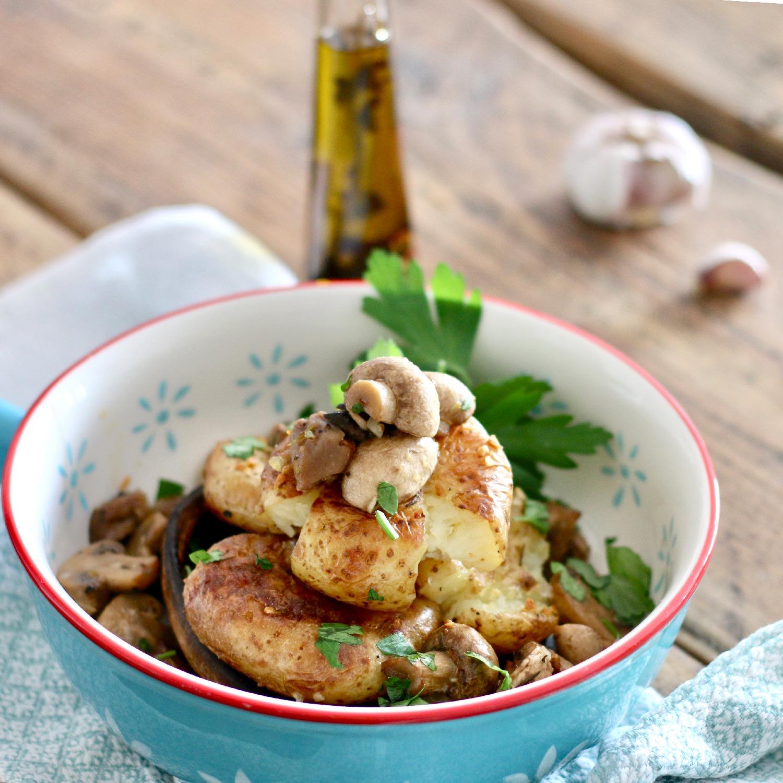 Cogumelos à Lagareiro com Batatas a murro