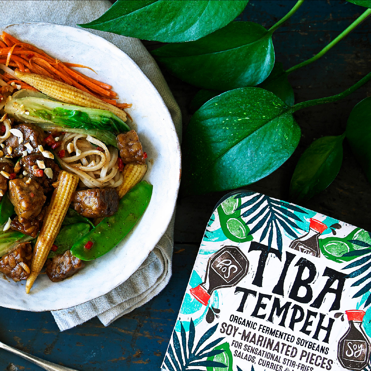 Tiba Tempeh x 10 + Tote Bag + Free delivery