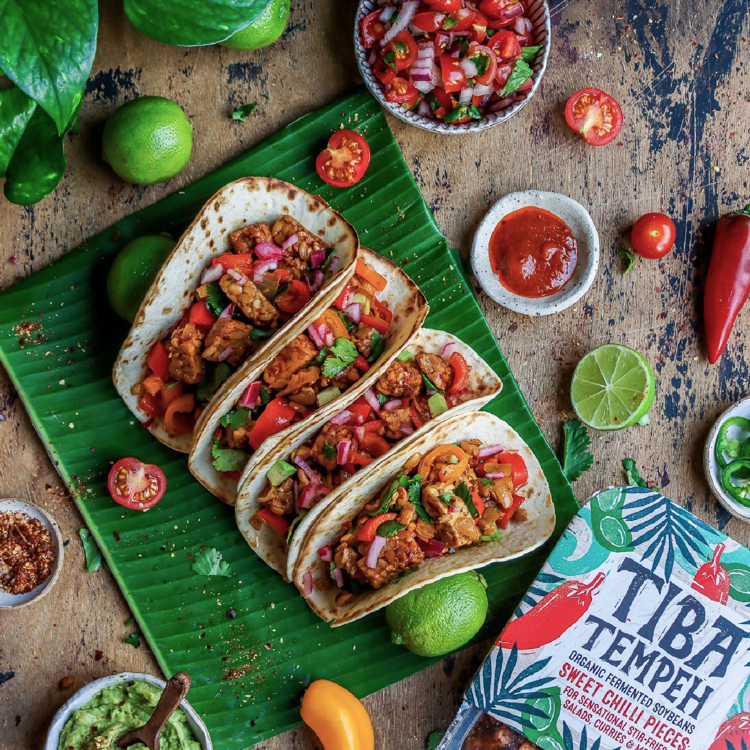 Tacos Sweet Chilli Tempeh
