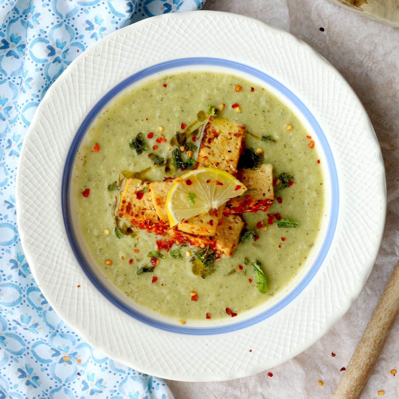 Creme de Courgete, Tofu e Hortelã