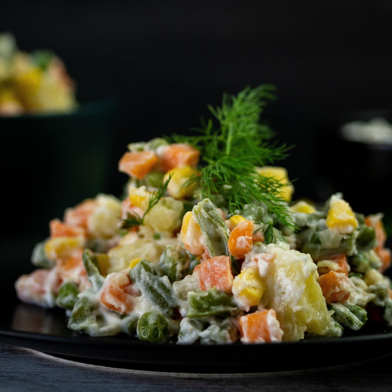 Salada Russa com Maionese