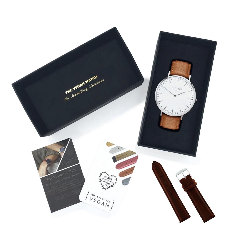 Gift set Relógio de Couro Vegano Mykonos & Pulseira
