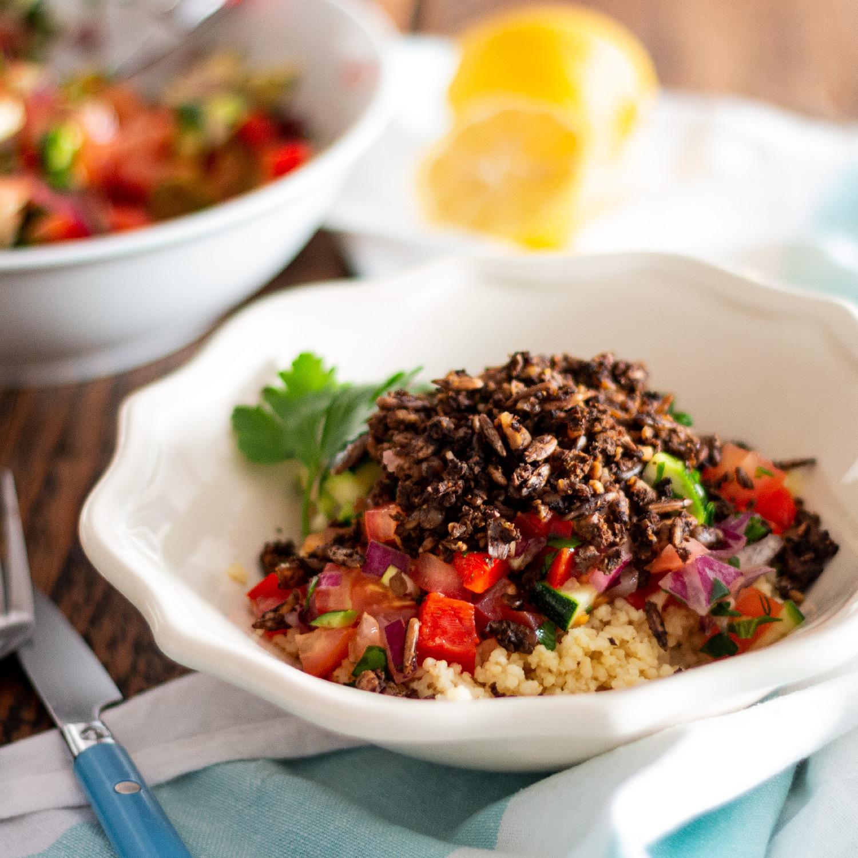 Salsa de Vegetais com Chilli de Cogumelos e Nozes
